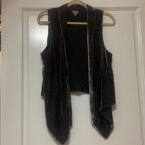 Velvet duster/vest